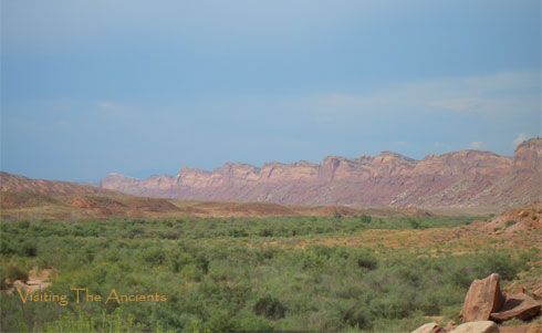 Comb Wash with Comb Ridge in Background, Utah